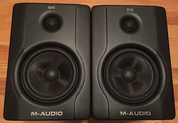 pair m audio bx5 d2 bx5a studio monitors speakers black reverb. Black Bedroom Furniture Sets. Home Design Ideas