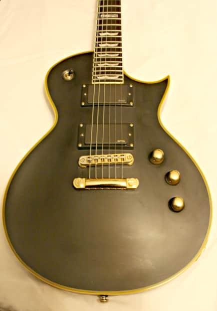 esp ltd deluxe ec 1000 electric guitar matte black with reverb. Black Bedroom Furniture Sets. Home Design Ideas