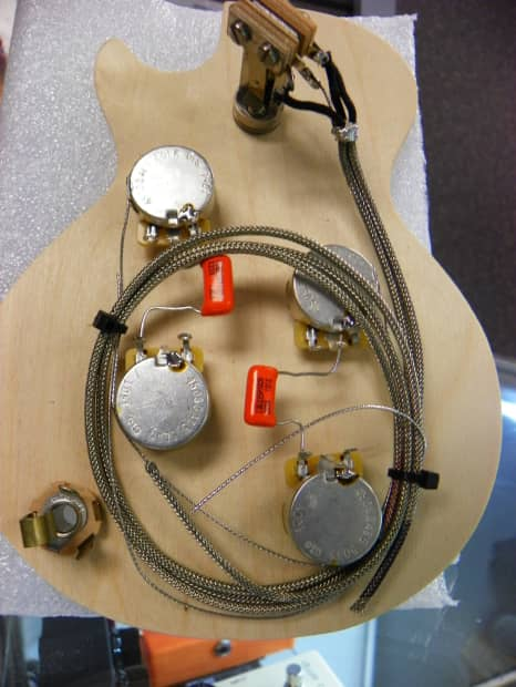 golden age premium pre wired harness for les paul reverb