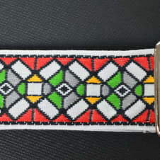 """New! """"Stained Glass"""" Custom USA Handmade Guitar Strap Free Shipping image"""