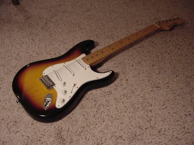 Rare 1993 Fender Sunburst Mim Standard Stratocaster Reverb