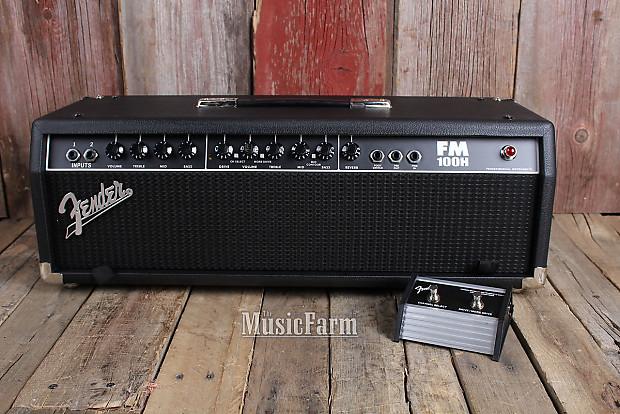fender fm100h electric guitar amplifier head 100 watt amp w reverb. Black Bedroom Furniture Sets. Home Design Ideas