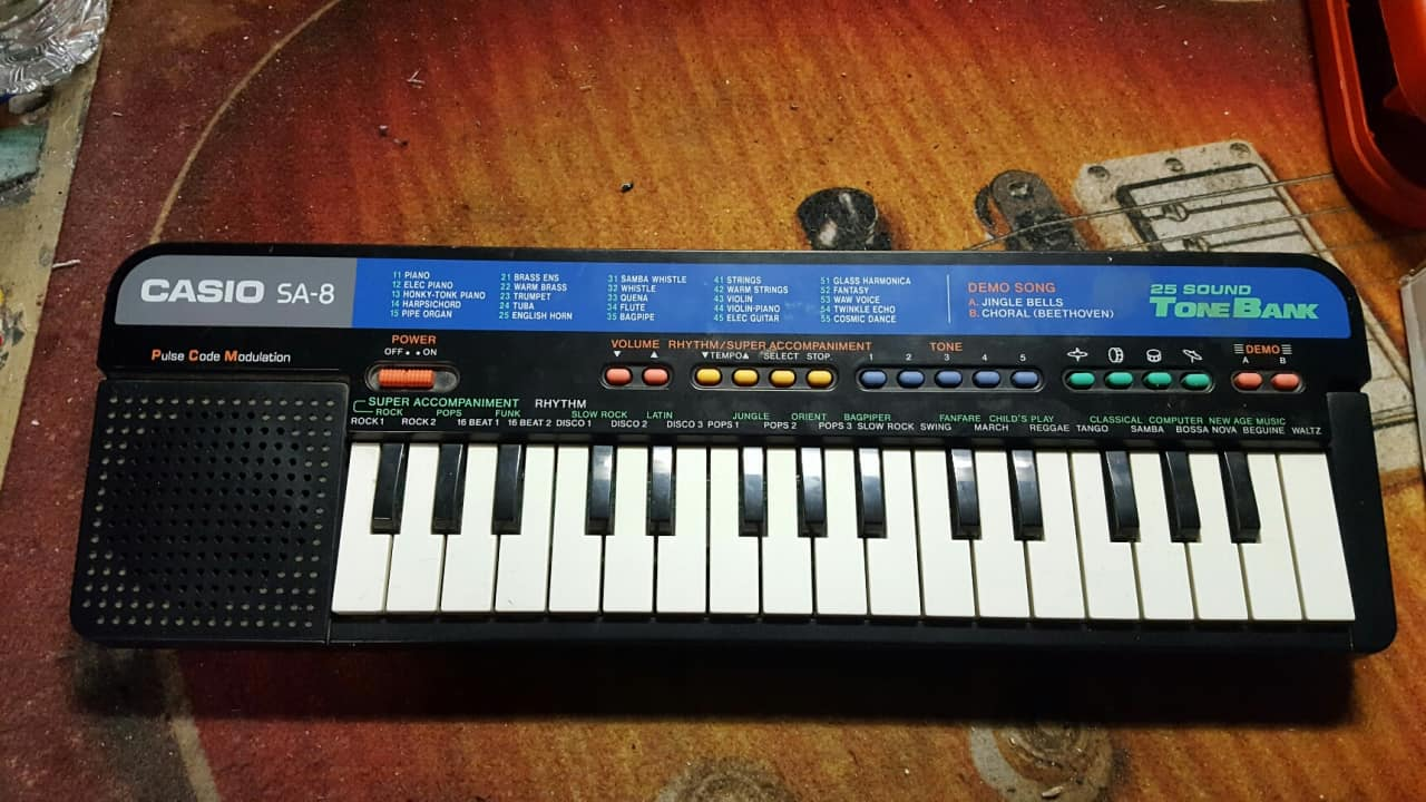 Vintage Casio Sa 8 Very Small Keyboard Versatile Fun In A