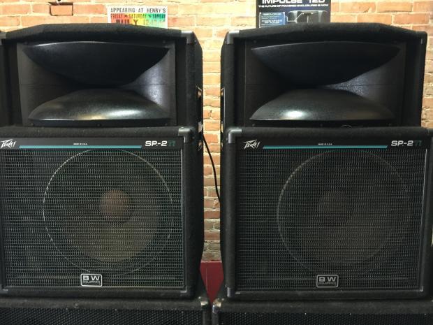 peavey sp2 39 s pair passive speakers 90 39 s reverb. Black Bedroom Furniture Sets. Home Design Ideas