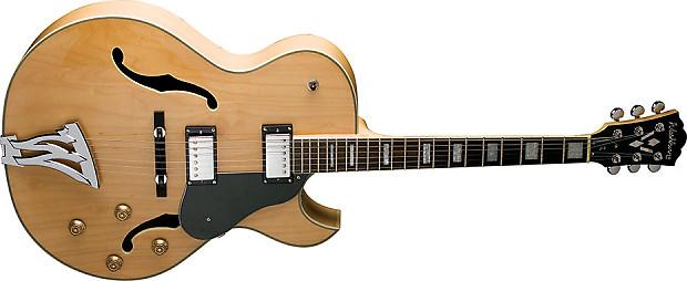 washburn j3nk jazz electric guitar natural finish free case reverb. Black Bedroom Furniture Sets. Home Design Ideas