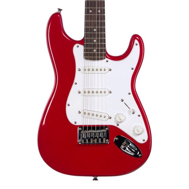squier mini strat 3 4 scale fender stratocaster kid size beginner travel electric guitar. Black Bedroom Furniture Sets. Home Design Ideas