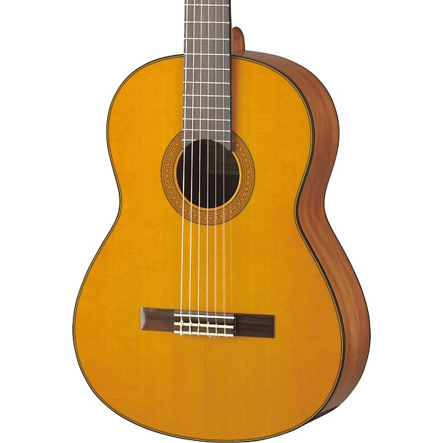 Yamaha cg142ch solid cedar top acoustic natural reverb for Yamaha solid top