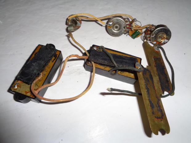 fender precision bass shielding pots input wiring harness 1966 reverb