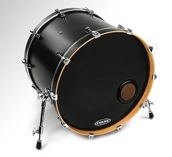 20 evans non level 360 emad ported resonant black bass drum reverb. Black Bedroom Furniture Sets. Home Design Ideas