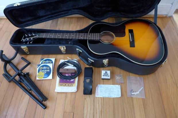 epiphone el 00 vs acoustic parlor guitar l 00 w lots of reverb. Black Bedroom Furniture Sets. Home Design Ideas