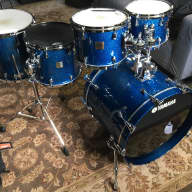 Yamaha Maple Custom Absolute Nouveau 2004 Blue Sparkle