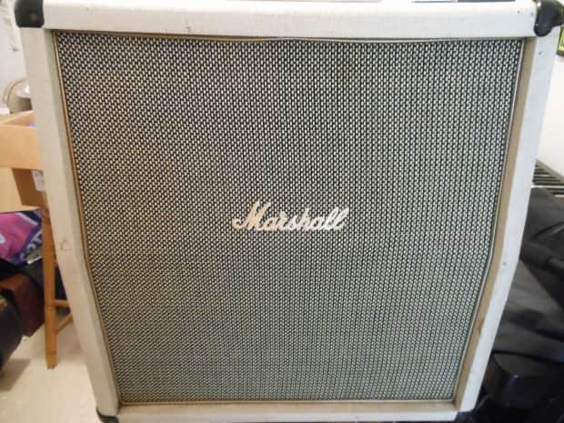 Marshall 4x10 Cab 70 S White Reverb