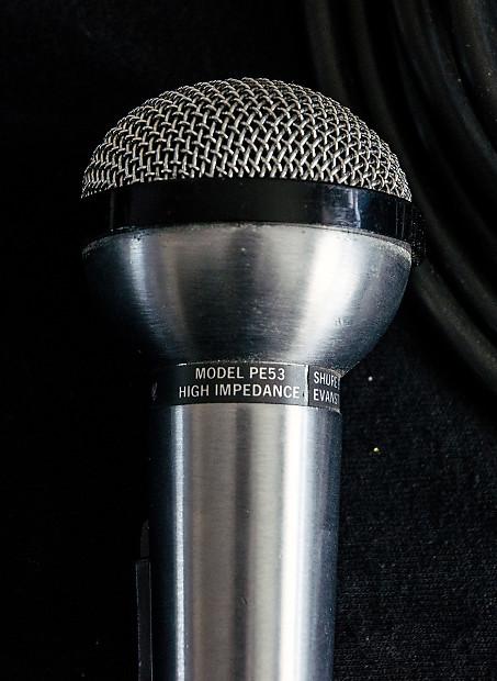 Vintage Shure Sphere O Dyne Pe53 Vocal Harp Mic Reverb