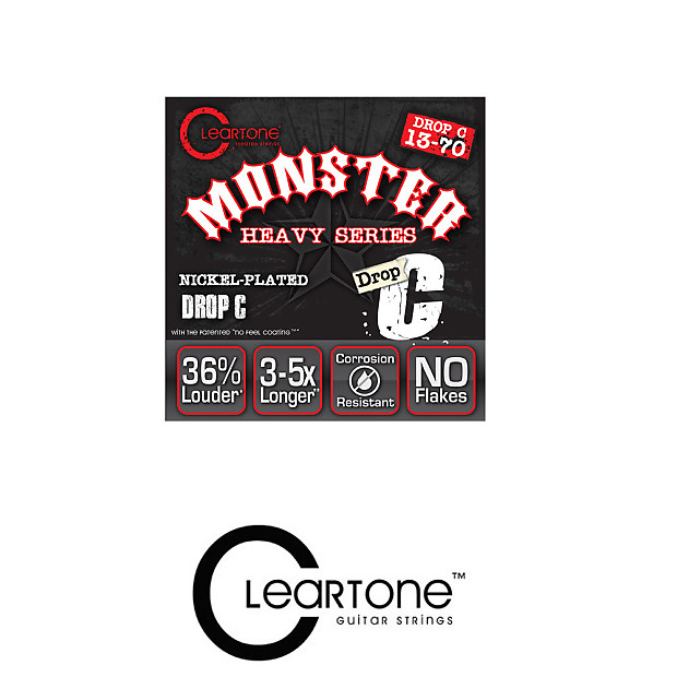 cleartone monster heavy series nickel plated drop c electric reverb. Black Bedroom Furniture Sets. Home Design Ideas