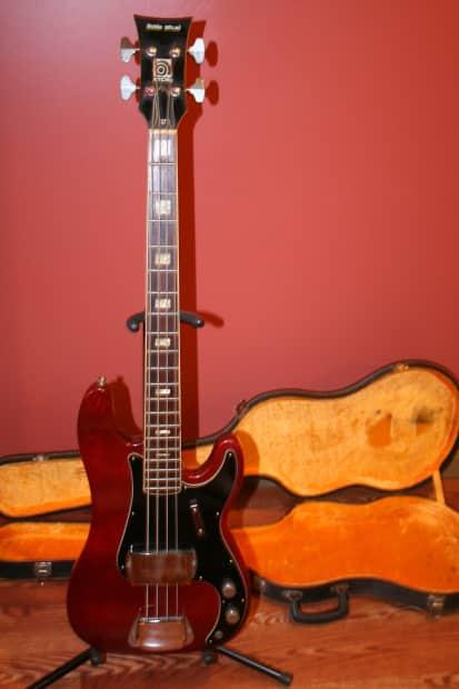 ampeg little stud geb101 1973 cherry bass w case near mint reverb. Black Bedroom Furniture Sets. Home Design Ideas