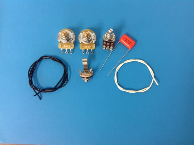 am guitar works jazz j bass wiring kit with blend control