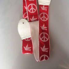 Souldier Vintage Style Guitar Strap Peace Dove Woodstock Strap image