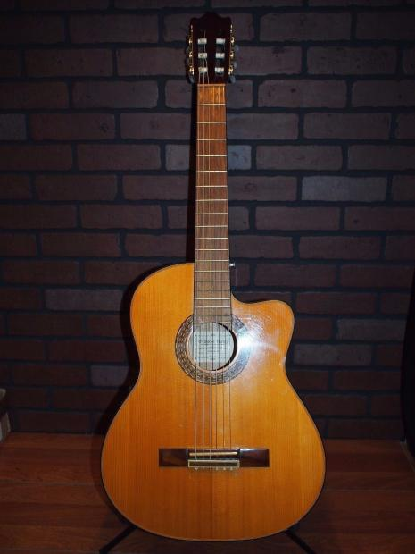nice ibanez galvador acoustic electric guitar ga60 sece natural w fishman pickup worldship reverb. Black Bedroom Furniture Sets. Home Design Ideas
