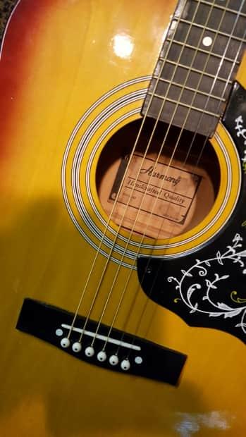 Fair Deal Auto >> Vintage Harmony Hummingbird Acoustic Guitar, 1980's Burst ...
