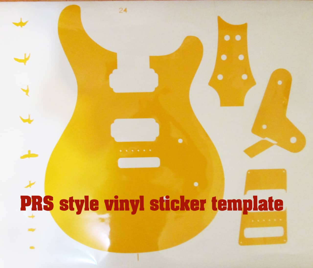 prs guitar body routing template vinyl sticker routing. Black Bedroom Furniture Sets. Home Design Ideas
