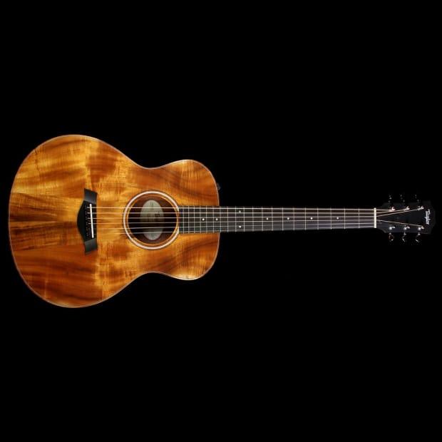 taylor gs mini e koa acoustic electric guitar natural reverb. Black Bedroom Furniture Sets. Home Design Ideas