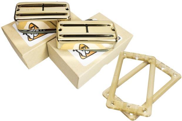 tv jones supertron neck bridge pickup set gold reverb. Black Bedroom Furniture Sets. Home Design Ideas