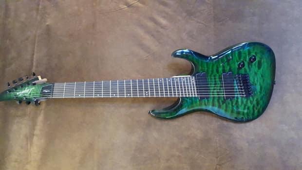 legator ninja nrf8 200 8 string fanned fret in trans emerald reverb. Black Bedroom Furniture Sets. Home Design Ideas