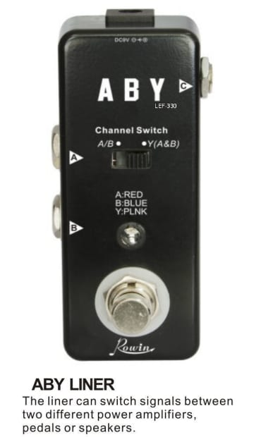 rowin lef 330 micro a b y channel switch pedal mooer clone reverb. Black Bedroom Furniture Sets. Home Design Ideas