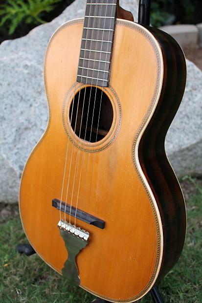 Vintage 1920s 30s Supertone Rope Parlor Acoustic Guitar