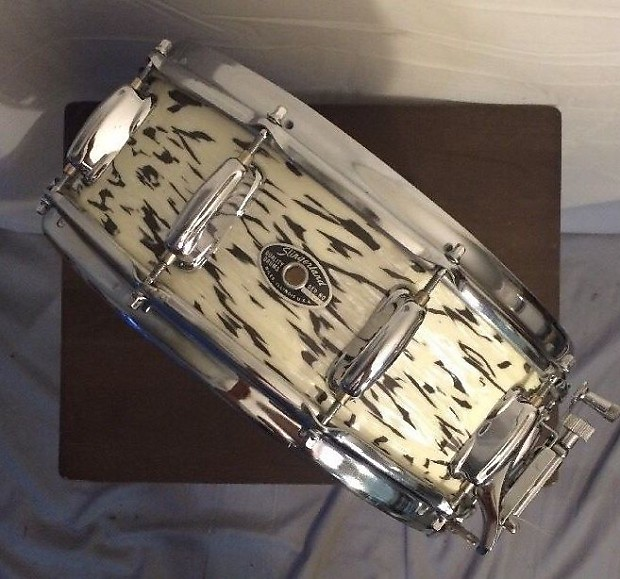 rare vintage slingerland 14 snare drum white tiger pearl reverb. Black Bedroom Furniture Sets. Home Design Ideas