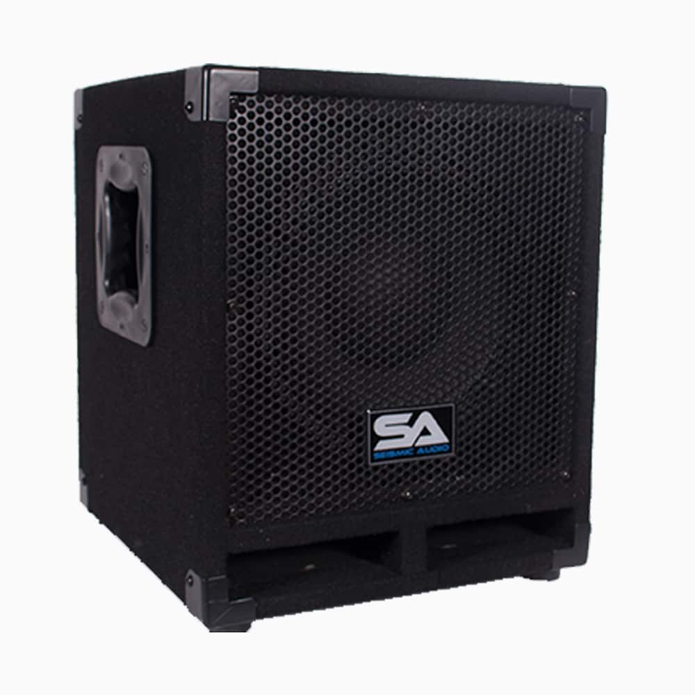 """Pair Of Powered 10"""" Pro Audio Subwoofer Cabinets PA DJ PRO"""