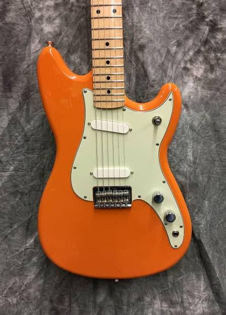 fender duo sonic electric guitar 2016 capri orange reverb. Black Bedroom Furniture Sets. Home Design Ideas