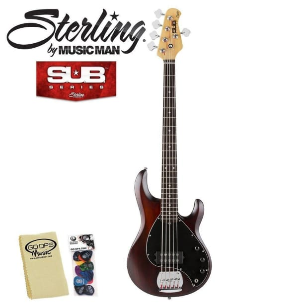 sterling by musicman sub series ray5 ws walnut satin 5 string reverb. Black Bedroom Furniture Sets. Home Design Ideas