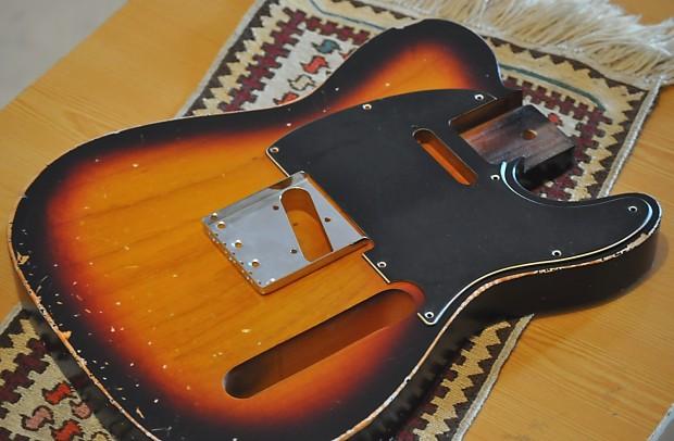 relic worn tele telecaster guitar body sunburst 2 piece alder reverb. Black Bedroom Furniture Sets. Home Design Ideas