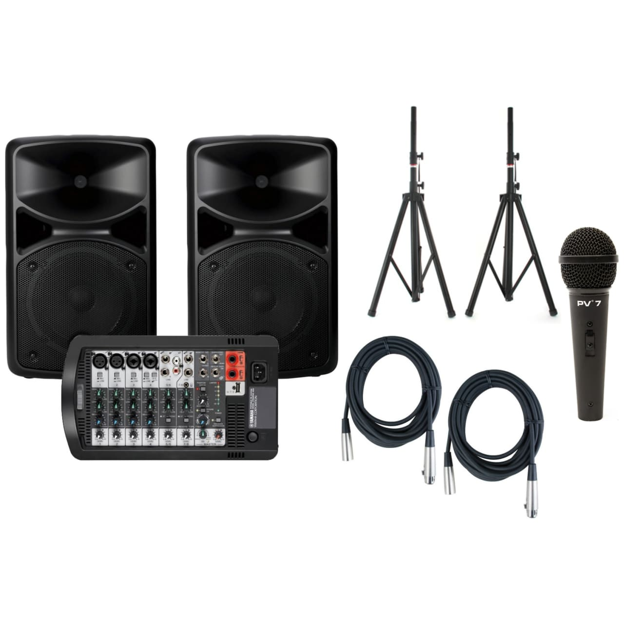 Yamaha stagepas 400i portable pa system bundle reverb for Yamaha stagepas 400i price