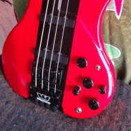 <p>Westone X-900 1980s Headless  Neck Through Bass Red / Black (Changed Pre Amp) 4-18-17</p>  for sale