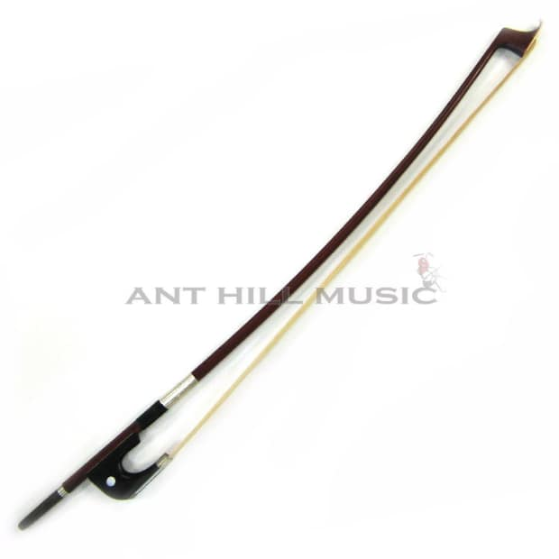 brazilwood double bass bow w ebony frog and horsehair