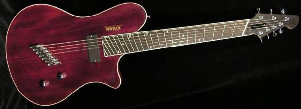 novax 7 string ax7 high a fanned fret semi hollowbody archtop jazz guitar reverb. Black Bedroom Furniture Sets. Home Design Ideas