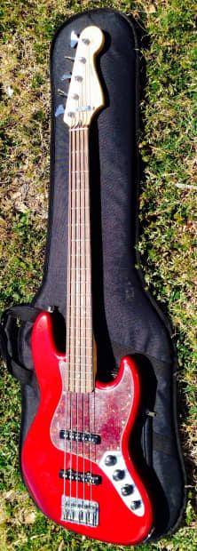 fender deluxe v 5 string jazz bass electric guitar made in reverb. Black Bedroom Furniture Sets. Home Design Ideas