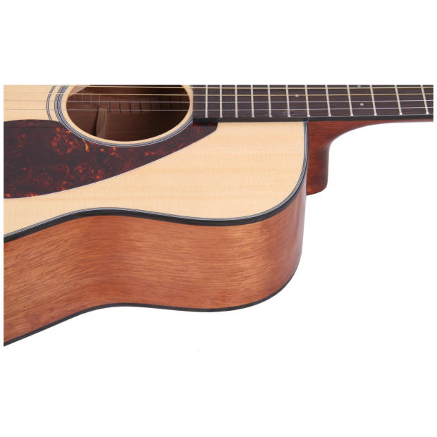Yamaha fg700s solid top acoustic guitar bundle natural for Yamaha fg700s dimensions