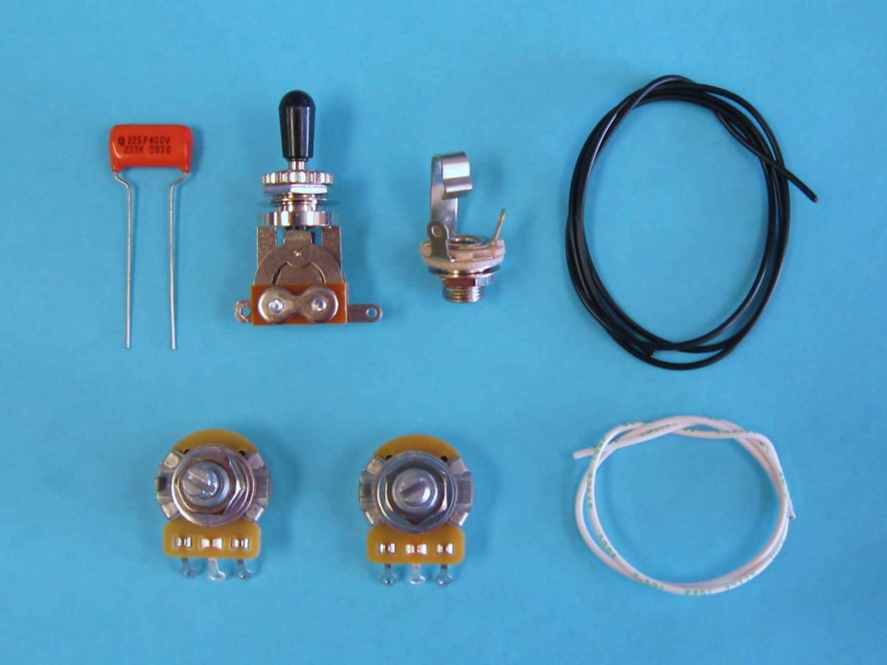 AM Guitar Works 1 Volume 1 Tone 1 Toggle Guitar Wiring Kit ...