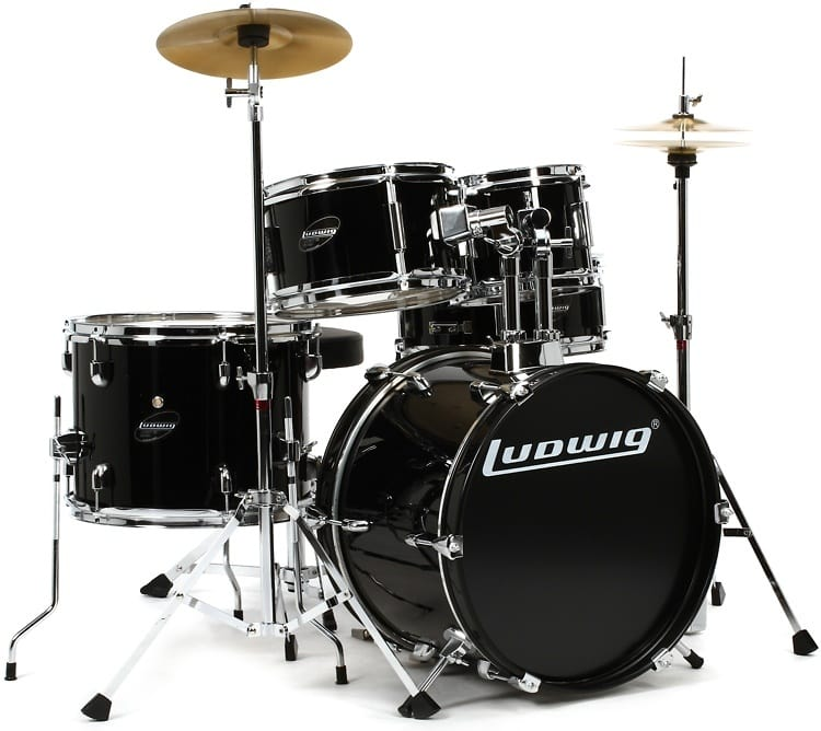 ludwig 5 piece junior drum set with cymbals and hardware reverb. Black Bedroom Furniture Sets. Home Design Ideas
