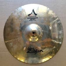 "Used Zildjian A Custom Mastersound Hi Hat Bottom Cymbal 15"" image"