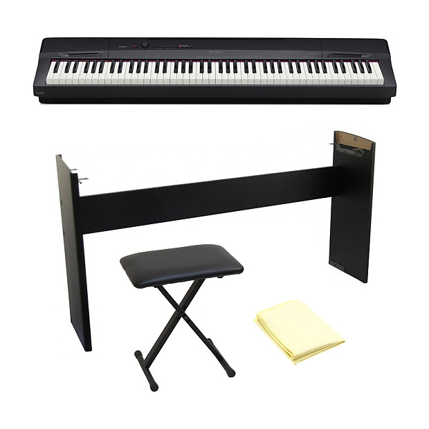 Casio px160 black 88 weighted keyboard with keyboard bench reverb Keyboard stand and bench
