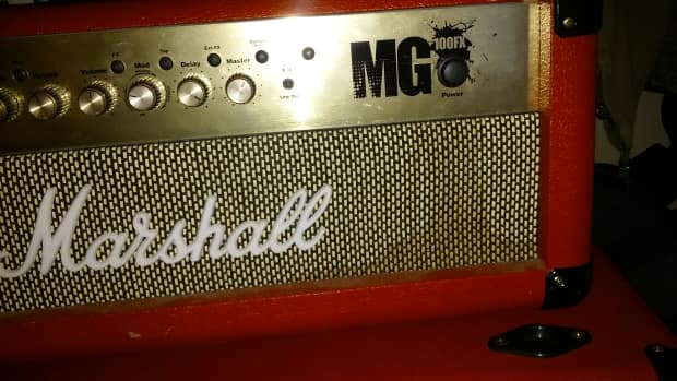 marshall mg100fx combo red reverb. Black Bedroom Furniture Sets. Home Design Ideas