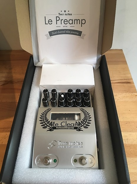 two notes le clean tube preamp guitar pedal clean crunch reverb. Black Bedroom Furniture Sets. Home Design Ideas