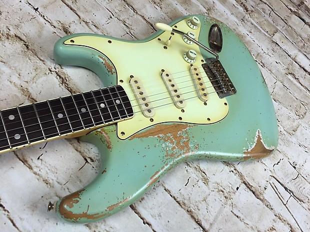 fraser guitars aged seafoam green custom shop 60s reverb. Black Bedroom Furniture Sets. Home Design Ideas