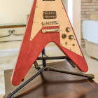 Gibson 1967 reissue Gibson Flying V Crescent Moon inlay 2002 Faded Cherry image