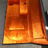 G&G TB1000 And 500 Case, New. Travis Bean Designs 1000 And 500 2016 Orange Crush And Black Tolex