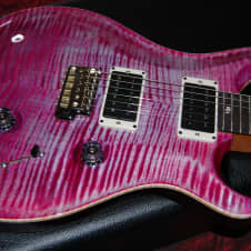 Paul Reed Smith Custom 24  2016 Violet Non-10 Top but why? Killer Flame, well matched custom back image
